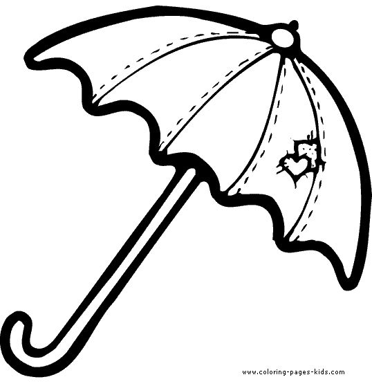 Umbrellas, Coloring pages and Coloring on Pinterest