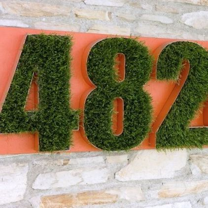 grass house numbers by Potted