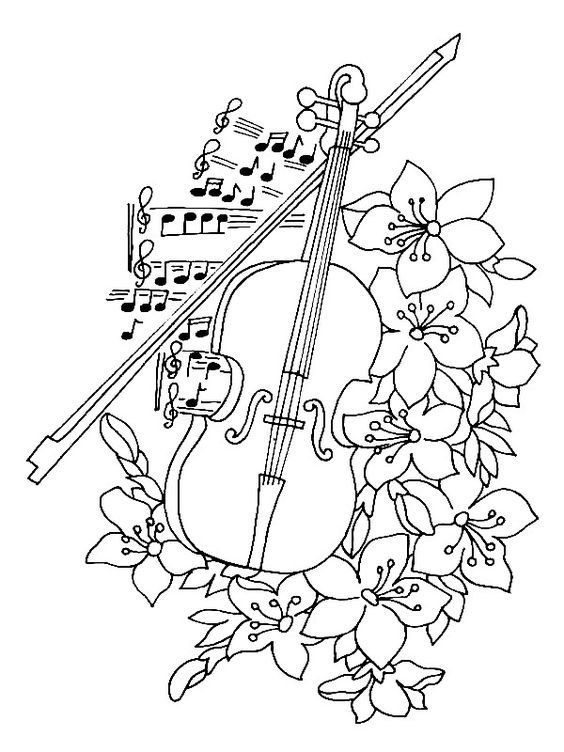 In Case of Emergency! 62 Music themed coloring pages