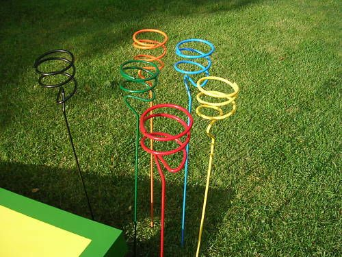 Details about Outdoor Yard Wrought Iron Beer Drink Holders