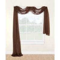 Mainstays Marjorie Sheer Voile Curtain Scarf, 59x216 ...