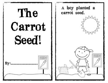 Emergent readers, Carrot seeds and Carrots on Pinterest