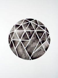 Geometric Circle Watercolor Painting Minimalist ...