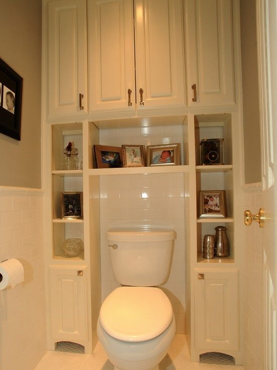 Working With Small Spaces Storage in a Powder Room