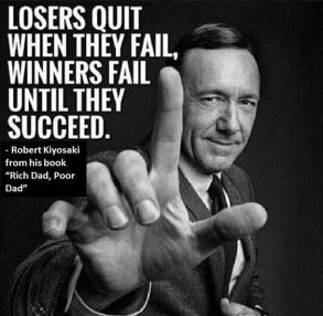 Image result for losers quit when they fail