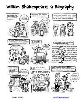 Shakespeare's life, Comic and Details about on Pinterest
