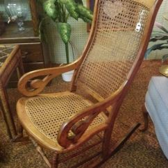 Upholstered Chairs With Wooden Arms Folding Chair Lifetime Early Caned Lincoln Rocker - Local Pickup Only | For Sale, Rockers And Antiques