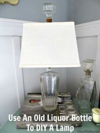 Repurpose An Old Bottle Into a DIY Lamp - Chase the Star ...