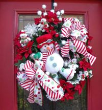 Christmas Wreath Snowman Door Decoration Designer Cute ...