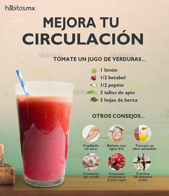 Hábitos Health Coaching | JUGO DE VERDURAS PARA MEJORAR LA CIRCULACIÓN: