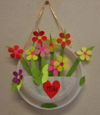 Paper plate flower basket for spring. | spring | Pinterest ...