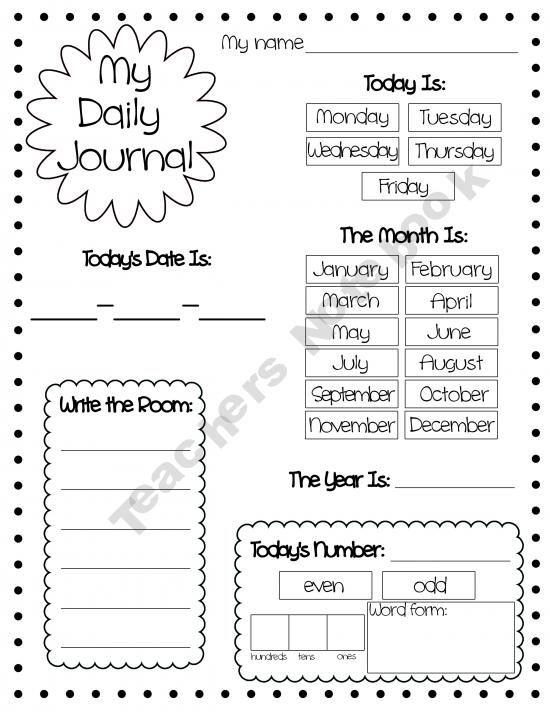 Daily journal, Journals and Calendar on Pinterest