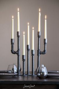 Pipe Candelabra Taper Set - Taper Candle Holders ...
