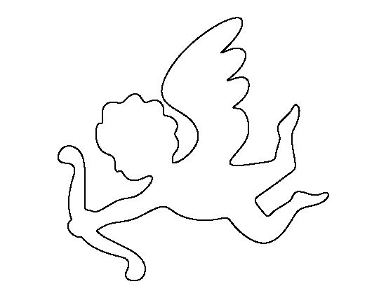 Cupid pattern. Use the printable outline for crafts