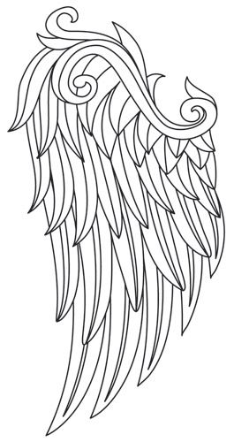Wing wing, Wings and Colouring sheets on Pinterest