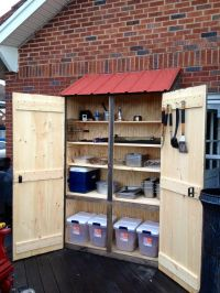 Outdoor cabinet for grilling supplies | My Crafts ...