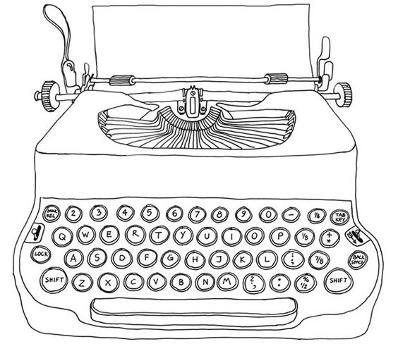 Line drawings, Typewriters and Drawings on Pinterest