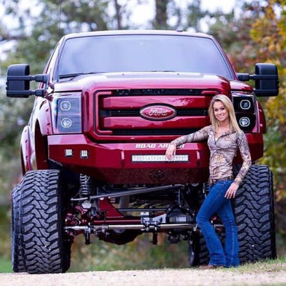 Ford Girls Drive Big Trucks Pictures to Pin on Pinterest