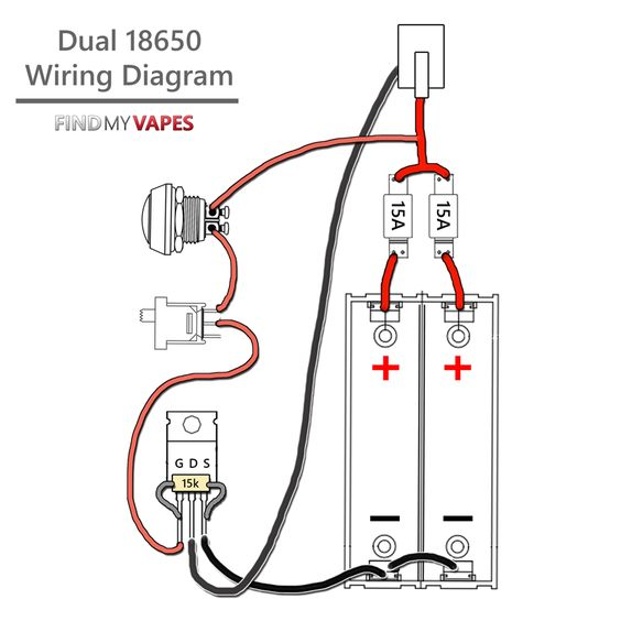 single 18650 box mod wiring diagram