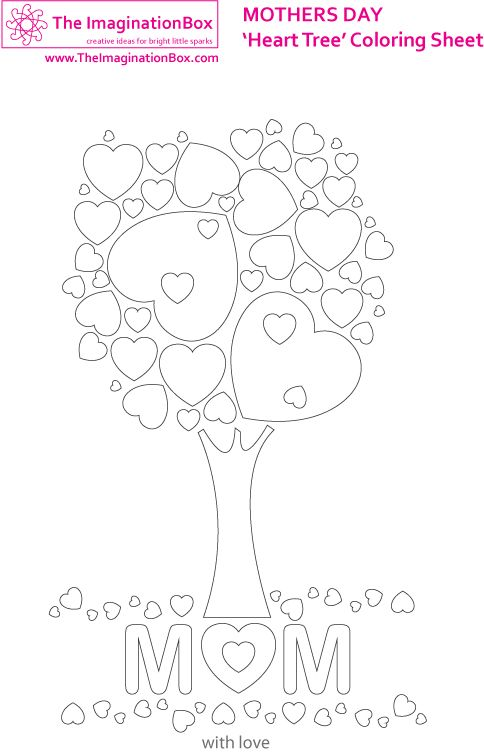 Decorate this free downloadable 'heart tree' picture for