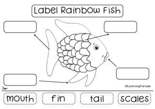 Free printable for the Rainbow Fish by Marcus Pfister