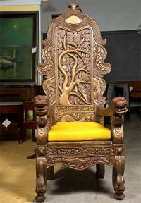 Carved Chinese Throne Chair | Armchairs, Chairs and Chinese