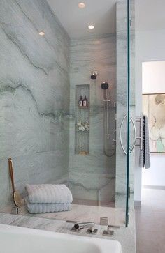 sea pearl quartzite for the shower walls Pale greens and