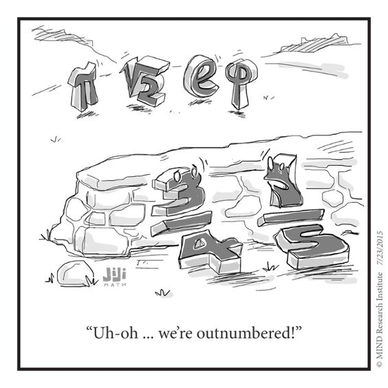 Rational vs irrational numbers in this funny math cartoon