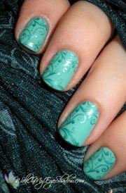 awesome wedding aqua nail art