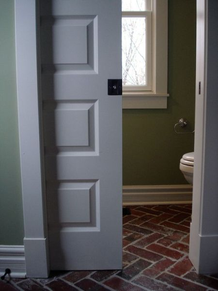 sliding pocket door bathroom Basically if I could have all pocket doors, that would be