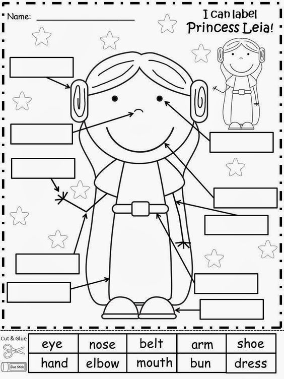 Free: Princess Leia from Star Wars Label Sheet. Have your