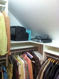 sloped closet ceiling storage solution | closet pics for ...