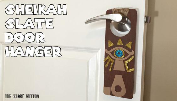 Sheikah Slate Door Hanger, Legend of Zelda Breath of the Wild kids craft: