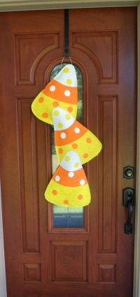 Fall candy, Candy corn and Burlap door hangers on Pinterest