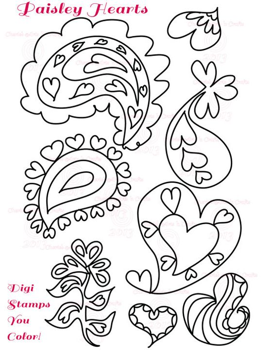 Items Similar To Digital Stamp Embroidery Pattern