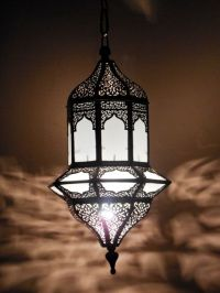 Find a fancy moroccan lantern with its soft subdued light ...
