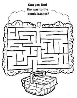 simple picnic basket maze inkspired musings: Late Summer