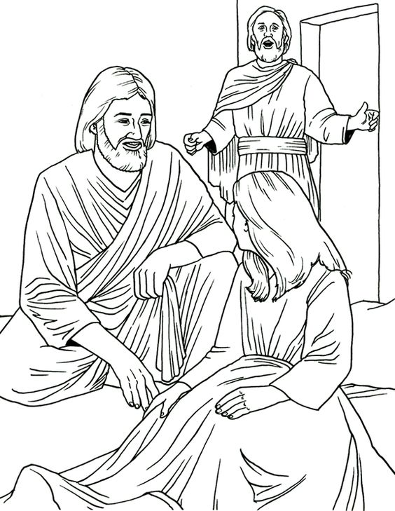 Jesus Raises Lazarus From The Dead Coloring Page Coloring