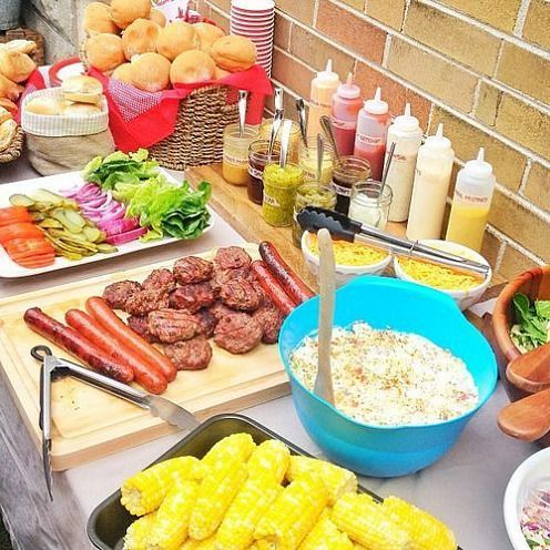 Try a Build-Your-Own Burger Bar at your next family cookout for easy entertianing!:
