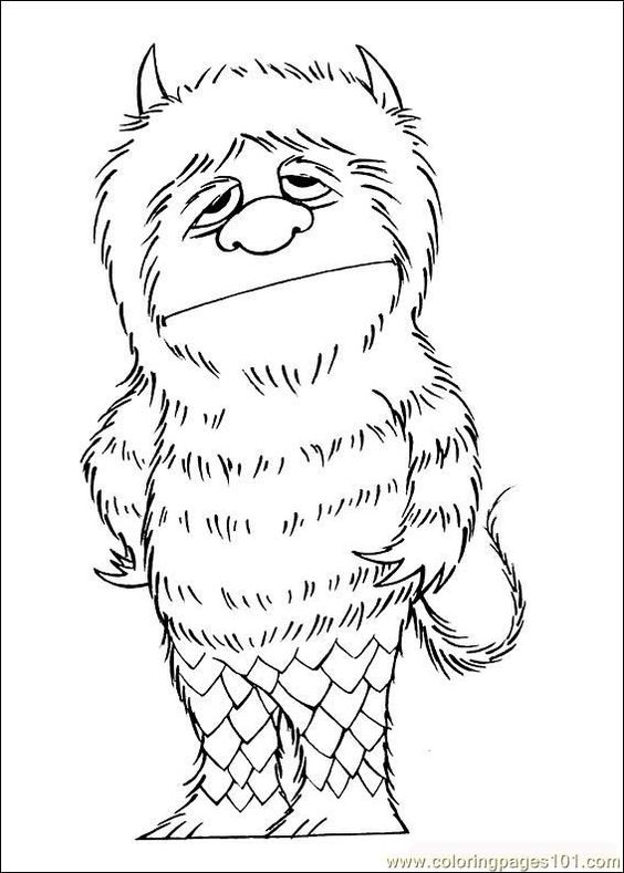 where the wild things are coloring page {print it