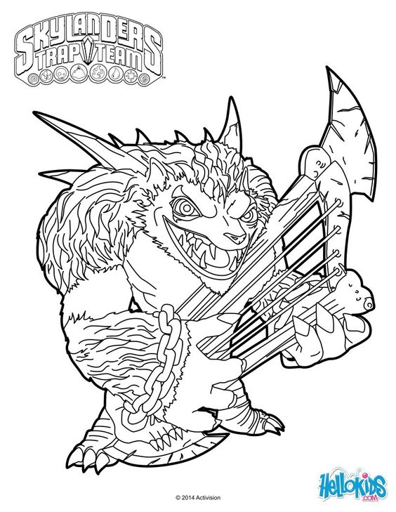 skylanders trap team coloring pages  wolfgang  colouring