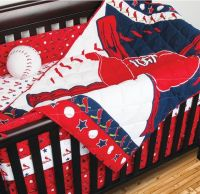 4pc MLB ST LOUIS CARDINALS CRIB BEDDING SET Baseball Baby ...