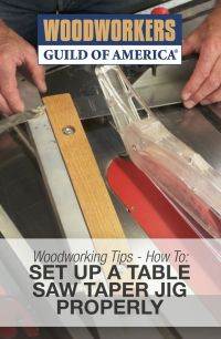 Setting up a Table Saw Taper Jig Properly