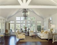 Country Houses traditional living room vaulted ceiling ...