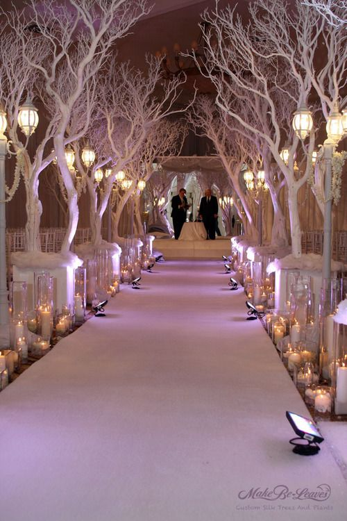 Winter Wonderland Wedding Decorations: I would love to have these trees at my wedding, why cherry blossom wedding why!: