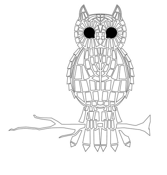Mosaics, Coloring pages for adults and Coloring on Pinterest