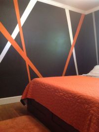 Grey, orange, white my new teenage boy bedroom decor