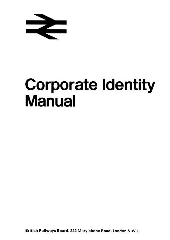 Manual, Corporate identity and British rail on Pinterest