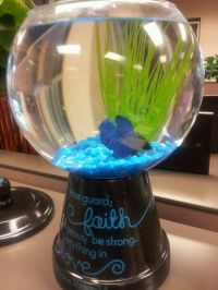 Fish bowl for office desk