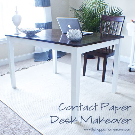 contact paper covered table